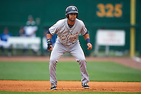 San Antonio Missions first baseman Luis Domoromo (7) leads off first during a game against the NW Arkansas Naturals on May 30, 2015 at Arvest Ballpark in Springdale, Arkansas.  San Antonio defeated NW Arkansas 5-1.  (Mike Janes/Four Seam Images)