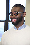 """Tarell Alvin McCraney during the MTC Broadway Cast Call for """"Choir Boy"""" at The MTC Rehearsal Studios on November 20, 2018 in New York City."""