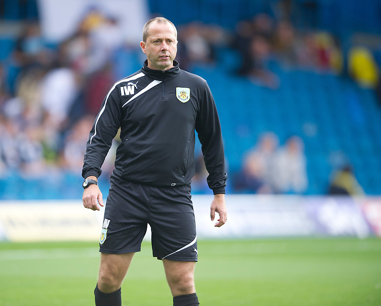 Burnley's Assistant Manager Ian Woan during the pre-match warm-up <br /> <br /> Photo by Stephen White/CameraSport<br /> <br /> Football - The Football League Sky Bet Championship - Leeds United v Burnley - Saturday 21st September 2013 - Elland Road - Leeds<br /> <br /> &copy; CameraSport - 43 Linden Ave. Countesthorpe. Leicester. England. LE8 5PG - Tel: +44 (0) 116 277 4147 - admin@camerasport.com - www.camerasport.com