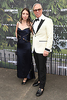 Tommy Hilfiger and daughter Elizabeth<br /> arrives for the Serpentine Gallery Summer Party 2016, Hyde Park, London.<br /> <br /> <br /> ©Ash Knotek  D3138  06/07/2016