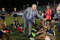 Cary, North Carolina  - Saturday August 05, 2017: Paul Riley after a regular season National Women's Soccer League (NWSL) match between the North Carolina Courage and the Seattle Reign FC at Sahlen's Stadium at WakeMed Soccer Park. The Courage won the game 1-0.