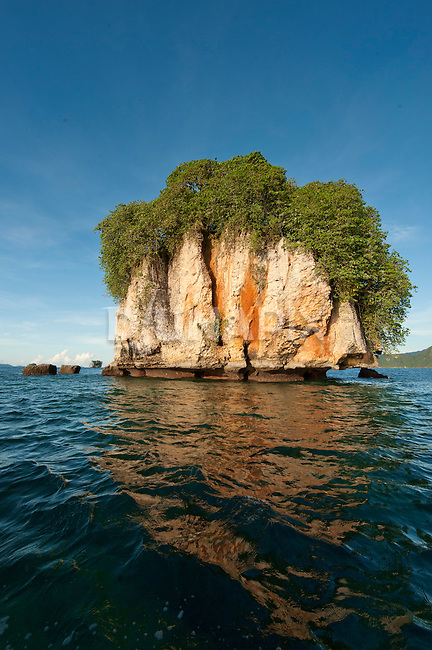 Limestone cliffs of a bird nesting island, Triton Bay, Papua
