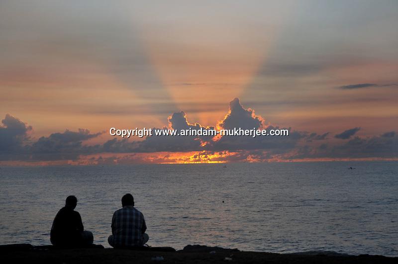 Sunrise in Pondicherry .Arindam Mukherjee/Sipa