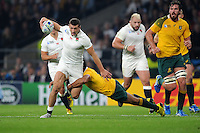 Jonny May of England in full flight during Match 26 of the Rugby World Cup 2015 between England and Australia - 03/10/2015 - Twickenham Stadium, London<br /> Mandatory Credit: Rob Munro/Stewart Communications