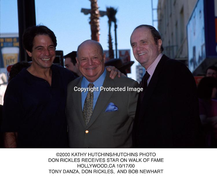 ©2000 KATHY HUTCHINS/HUTCHINS PHOTO.DON RICKLES RECEIVES STAR ON WALK OF FAME.HOLLYWOOD,CA 10/17/00.TONY DANZA, DON RICKLES,  AND BOB NEWHART