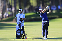 Tom Lewis (ENG) plays his 2nd shot on the 17th hole during Friday's Round 2 of the 2018 Turkish Airlines Open hosted by Regnum Carya Golf &amp; Spa Resort, Antalya, Turkey. 2nd November 2018.<br /> Picture: Eoin Clarke | Golffile<br /> <br /> <br /> All photos usage must carry mandatory copyright credit (&copy; Golffile | Eoin Clarke)