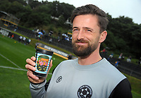 Sports scientist James Keegan during the Oceania Football Championship final (first leg) football match between Team Wellington and Lautoka FC at David Farrington Park in Wellington, New Zealand on Sunday, 13 May 2018. Photo: Dave Lintott / lintottphoto.co.nz