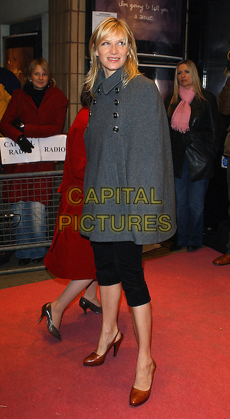 "JO WHILEY.""I'm Going To Tell You A Secret"" Premiere, UK TV Documentary Premiere at Chelsea Cinema, London, UK..November 29th, 2005.Ref: BEL.full length grey gray cape cropped trousers brown slingbacks.www.capitalpictures.com.sales@capitalpictures.com.© Capital Pictures."