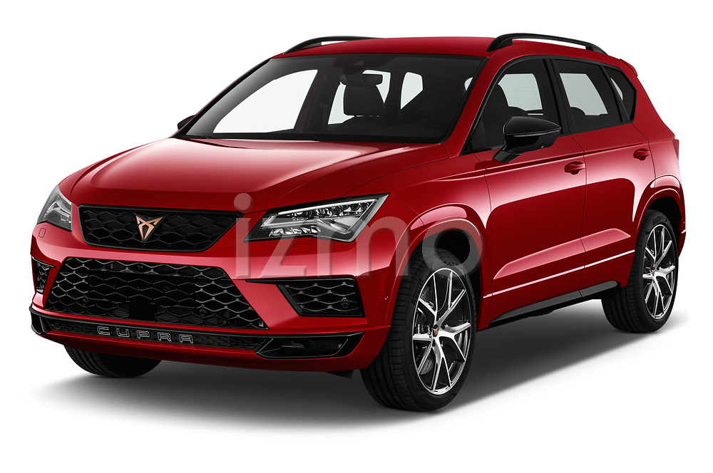 2019 Cupra Ateca Xcellence 5 Door SUV Angular Front stock photos of front three quarter view