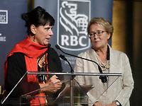 Nathalie Bondil et Pauline Marois au<br /> 13 ieme Gala Phenicia , 25 mai 2017