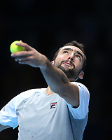Photographer Rob Newell/CameraSport<br /> <br /> International Tennis - Nitto ATP World Tour Finals Day 6 - O2 Arena - London - Friday 16th November 2018<br /> <br /> World Copyright &copy; 2018 CameraSport. All rights reserved. 43 Linden Ave. Countesthorpe. Leicester. England. LE8 5PG - Tel: +44 (0) 116 277 4147 - admin@camerasport.com - www.camerasport.com