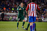 Atletico de Madrid's Diego Godín and Real Betis's Joaquin Sanchez during La Liga match between Atletico de Madrid and Real Betis at Vicente Calderon Stadium in Madrid, Spain. January 14, 2017. (ALTERPHOTOS/BorjaB.Hojas)