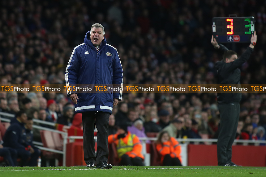Sunderland Manager, Sam Allardyce during Arsenal vs Sunderland AFC at the Emirates Stadium