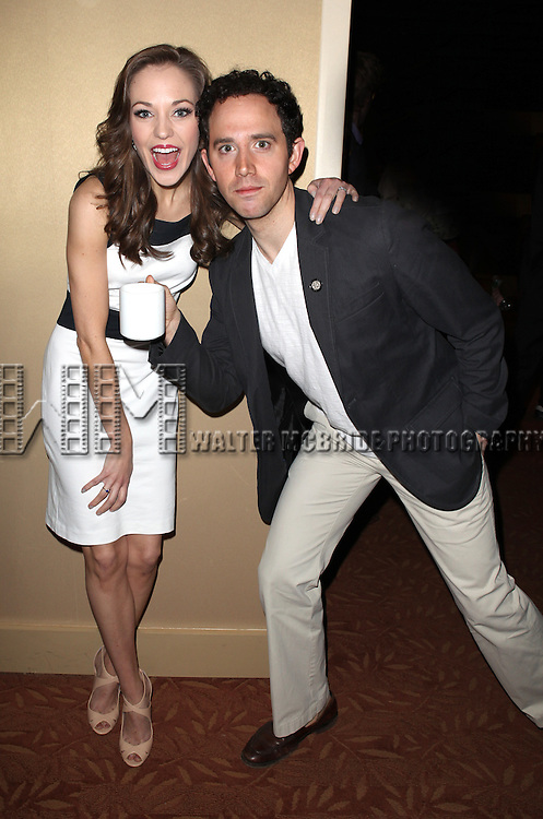 Laura Osnes & Santino Fontana attending the 2013 Tony Awards Meet The Nominees Junket  at the Millennium Broadway Hotel in New York on 5/1/2013...