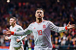Thiago Alcantara of Spain celebrating his score during the International Friendly 2018 match between Spain and Argentina at Wanda Metropolitano Stadium on 27 March 2018 in Madrid, Spain. Photo by Diego Souto / Power Sport Images