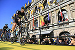Ian Stannard (GBR) Team Sky on stage at sign on before the 101st edition of the Tour of Flanders 2017 running 261km from Antwerp to Oudenaarde, Flanders, Belgium. 26th March 2017.<br /> Picture: Eoin Clarke | Cyclefile<br /> <br /> <br /> All photos usage must carry mandatory copyright credit (&copy; Cyclefile | Eoin Clarke)