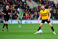 Dan Butler of Newport County during the Sky Bet League Two Play-off Semi Final: First Leg match between Newport County and Mansfield Town at Rodney Parade in Newport, Wales, UK.  Thursday 09 May 2019