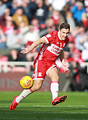 5th November 2017, Riverside Stadium, Middlesbrough, England; EFL Championship football, Middlesbrough versus Sunderland; Stewart Downing of Middlesbrough passes the ball forward in the first half