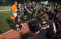 Doug Semones, Head Football Coach. Football game during Homecoming Weekend at Occidental College, Oct. 19, 2013. (Photo by Marc Campos, Occidental College Photographer)