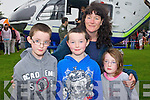 Pictured at the Air Show in the Aquadome on Tuesday evening, from left: Seamus Fitzpatrick, Toma?s Fitzpatrick, Maire Fitzpatrick and Una Fitzpatrick (all from Brandon).