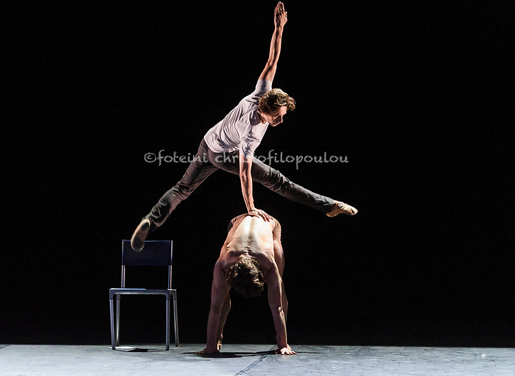 London, UK. 22.11.2017. 'Men in Motion' Ivan Putrov's celebration of the male dancer returns to the London Coliseum, 22-23 Nov 2017.  Photo shows: Matthew Ball & Ivan Putrov. Photo - © Foteini Christofilopoulou.