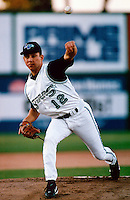 Roberto Ramirez of the Las Vegas Stars participates in a minor league baseball game during the 1998 season at Cashman Field in Las Vegas, Nevada. (Larry Goren/Four Seam Images)