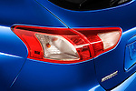Tail light close up detail view of a 2012 Mitsubishi Lancer Sportback GT
