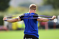 Sam Nixon of Bath United in action during the pre-match warm-up. Premiership Rugby Shield match, between Bristol Bears A and Bath United on August 31, 2018 at the Cribbs Causeway Ground in Bristol, England. Photo by: Patrick Khachfe / Onside Images