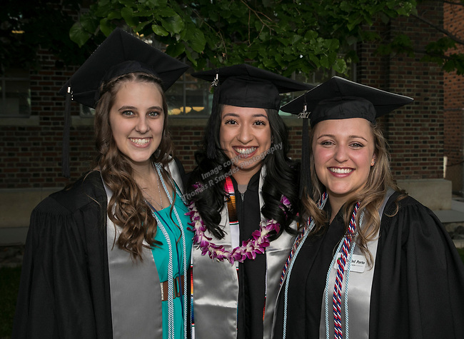A photograph from the University of Nevada College of Agriculture, Biotechnology & Natural Resources and College of Education graduation ceremony on Friday evening, May 19, 2017.