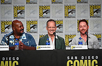 SAN DIEGO COMIC-CON© 2019:  L-R: 20th Century Fox Television's AMERICAN DAD Cast Members Kevin Michael Richardson, Dee Bradley Baker and Scott Grimes during the AMERICAN DAD panel on Saturday, July 20 at the SAN DIEGO COMIC-CON© 2019. CR: Frank Micelotta/20th Century Fox Television
