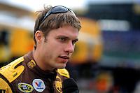 Oct. 2, 2009; Kansas City, KS, USA; Nascar Sprint Cup Series driver David Ragan during qualifying for the Price Chopper 400 at Kansas Speedway. Mandatory Credit: Mark J. Rebilas-