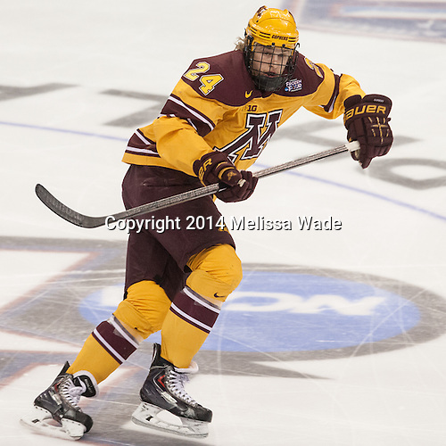 Hudson Fasching (MN - 24) - The Union College Dutchmen defeated the University of Minnesota Golden Gophers 7-4 to win the 2014 NCAA D1 men's national championship on Saturday, April 12, 2014, at the Wells Fargo Center in Philadelphia, Pennsylvania.