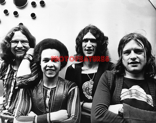 Hookfoot 1970 Roger Pope, Caleb Quaye, Ian Duck and Dave Glover.© Chris Walter.