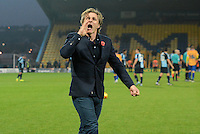 Wycombe Wanderers manager Gareth Ainsworth thanks the travelling supporters following the Sky Bet League 2 match between Mansfield Town and Wycombe Wanderers at the One Call Stadium, Mansfield, England on 31 October 2015. Photo by Garry Griffiths.