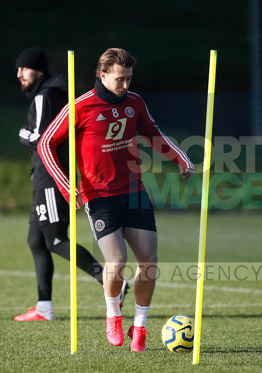 Luke Freeman of Sheffield Utd during the Press Conference & Training at the Steelphalt Academy, Sheffield. Picture date: 7th February 2020. Picture credit should read: Simon Bellis/Sportimage