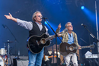 America performs at the Festival d'ete de Quebec (Quebec Summer Festival) on July 11, 2018.