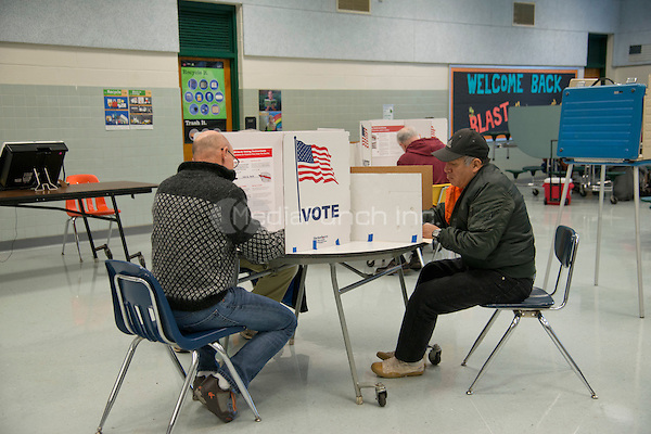 Fairfax, VA, November 8, 2016, USA:  Polling sites in Fairfax, VA are open and voters are making their voices heard in the 2016 Presidential elections. Patsy Lynch/MediaPunch