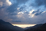 Clearing storm at Mortons Overlook, Great Smoky Mountains National Park, TN, USA