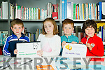 Scriobh Leabhar annual awards for Kerry schools at The Education Centre, Drumtacker on Monday. Pictured Sean O'Connor, Allie Shabu, Alex Massar and Joe O'Mahony from Scoil Saidhbhín, Cahersiveen