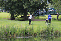Mark Flindt Haastrup (DEN) plays his 2nd shot the 4th hole during Sunday's Final Round of the Northern Ireland Open 2018 presented by Modest Golf held at Galgorm Castle Golf Club, Ballymena, Northern Ireland. 19th August 2018.<br /> Picture: Eoin Clarke | Golffile<br /> <br /> <br /> All photos usage must carry mandatory copyright credit (&copy; Golffile | Eoin Clarke)