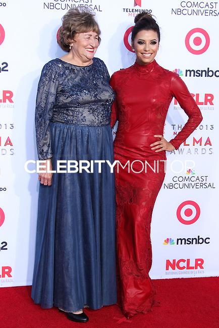 PASADENA, CA - SEPTEMBER 27: Actress Eva Longoria and her mother Ella Eva Mireles arrive at the 2013 NCLR ALMA Awards held at Pasadena Civic Auditorium on September 27, 2013 in Pasadena, California. (Photo by Xavier Collin/Celebrity Monitor)