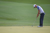 Emiliano Grillo (ARG) watches his putt on 11 during round 1 of the Houston Open, Golf Club of Houston, Houston, Texas. 3/29/2018.<br /> Picture: Golffile | Ken Murray<br /> <br /> <br /> All photo usage must carry mandatory copyright credit (© Golffile | Ken Murray)