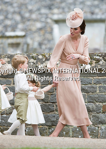 20.05.2017; Englefield, UK: PRINCE GEORGE BEING TOLD-OFF FOR CRYING BY MUM KATE<br /> It was both a moment of tears and joy for Princess Charlotte and Prince George who were flowergirl and page boy respectively at aunt Pippa Middleton's Wedding to James Mathews at St Mark's Church, Englefield.<br /> Also present at the church service were the Duke and Duchess of Cambridge, Prince Harry and Princess Eugenie.<br /> Mandatory Photo Credit: &copy;Francis Dias/NEWSPIX INTERNATIONAL<br /> <br /> IMMEDIATE CONFIRMATION OF USAGE REQUIRED:<br /> Newspix International, 31 Chinnery Hill, Bishop's Stortford, ENGLAND CM23 3PS<br /> Tel:+441279 324672  ; Fax: +441279656877<br /> Mobile:  07775681153<br /> e-mail: info@newspixinternational.co.uk<br /> Usage Implies Acceptance of OUr Terms &amp; Conditions<br /> Please refer to usage terms. All Fees Payable To Newspix International