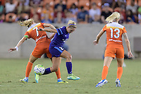 Houston, TX - Saturday Sept. 03, 2016: Kealia Ohai, Camille Levin during a regular season National Women's Soccer League (NWSL) match between the Houston Dash and the Orlando Pride at BBVA Compass Stadium.
