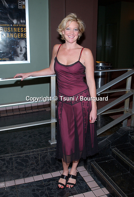 Erin Chandler posing at the  premiere of Lost In The Pershing Point Hotel at the Laemmle Fairfax Theatre in Los Angeles. November 27, 2001. ChandlerErin01.JPG