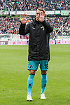 11.05.2019, HDI Arena, Hannover, GER, 1.FBL, Hannover 96 vs SC Freiburg<br /> <br /> DFL REGULATIONS PROHIBIT ANY USE OF PHOTOGRAPHS AS IMAGE SEQUENCES AND/OR QUASI-VIDEO.<br /> <br /> im Bild / picture shows<br /> Nils Petersen (SC Freiburg #18) verabschiedet sich von Fans mit Applaus, <br /> <br /> Foto © nordphoto / Ewert