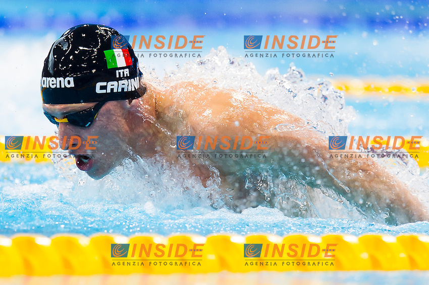 CARINI Giacomo ITA<br /> London, Queen Elizabeth II Olympic Park Pool <br /> LEN 2016 European Aquatics Elite Championships <br /> Swimming<br /> Men's 200m butterfly semifinal  <br /> Day 10 18-05-2016<br /> Photo Giorgio Perottino/Deepbluemedia/Insidefoto