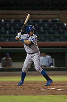 AZL Royals first baseman Logan Porter (8) at bat during an Arizona League game against the AZL Giants Black at Scottsdale Stadium on August 7, 2018 in Scottsdale, Arizona. The AZL Giants Black defeated the AZL Royals by a score of 2-1. (Zachary Lucy/Four Seam Images)