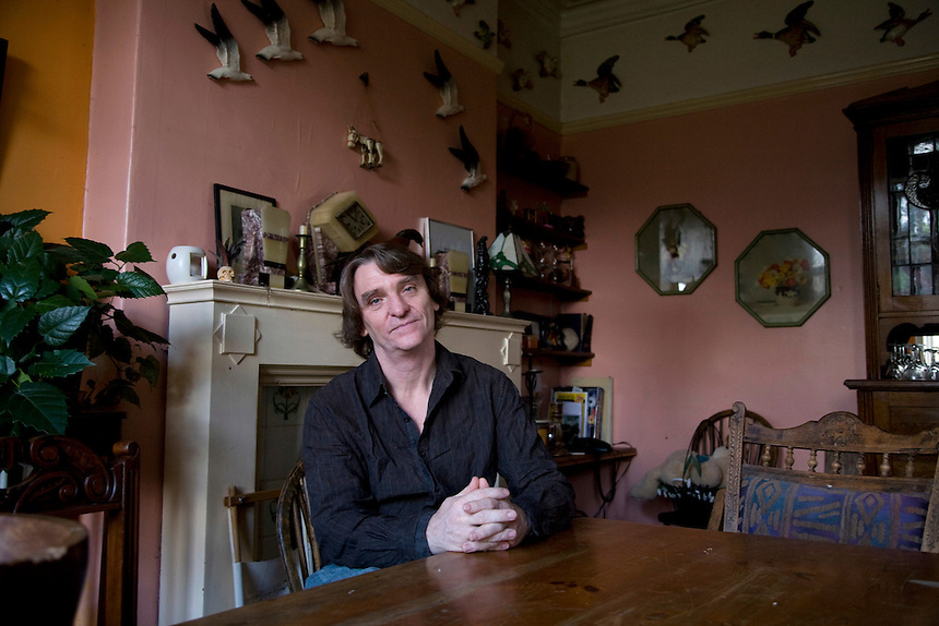 Melvin Burgess at his Manchester home.