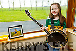 Emma Rose Galvin with her banjo   at the family home in Finuge on Tuesday.